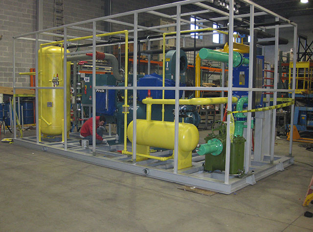 208 Ton Gold Mine Ammonia Refrigeration Skid Package
